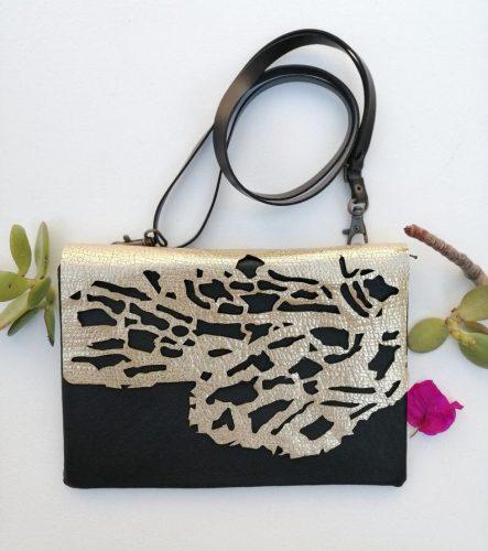 Golden Coral Leather Bag